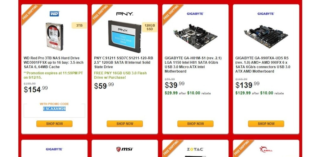 Newegg discounts and coupons