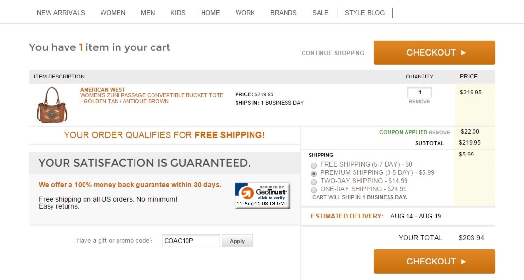Online coupon country outfitter