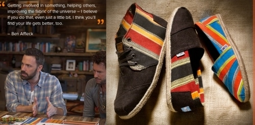 Ben Affleck Collaborates With TOMS For His Charity The Eastern Congo Initiative