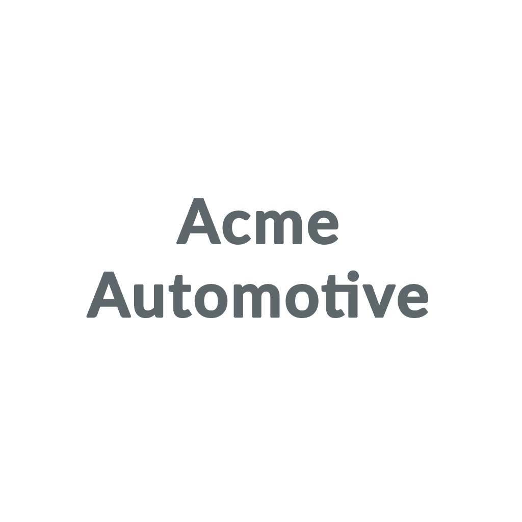 Acme Automotive promo codes