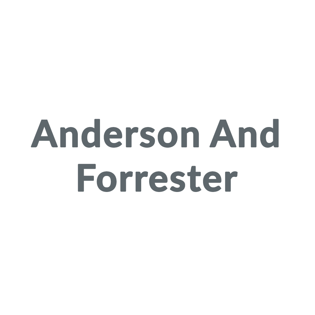 Anderson And Forrester promo codes