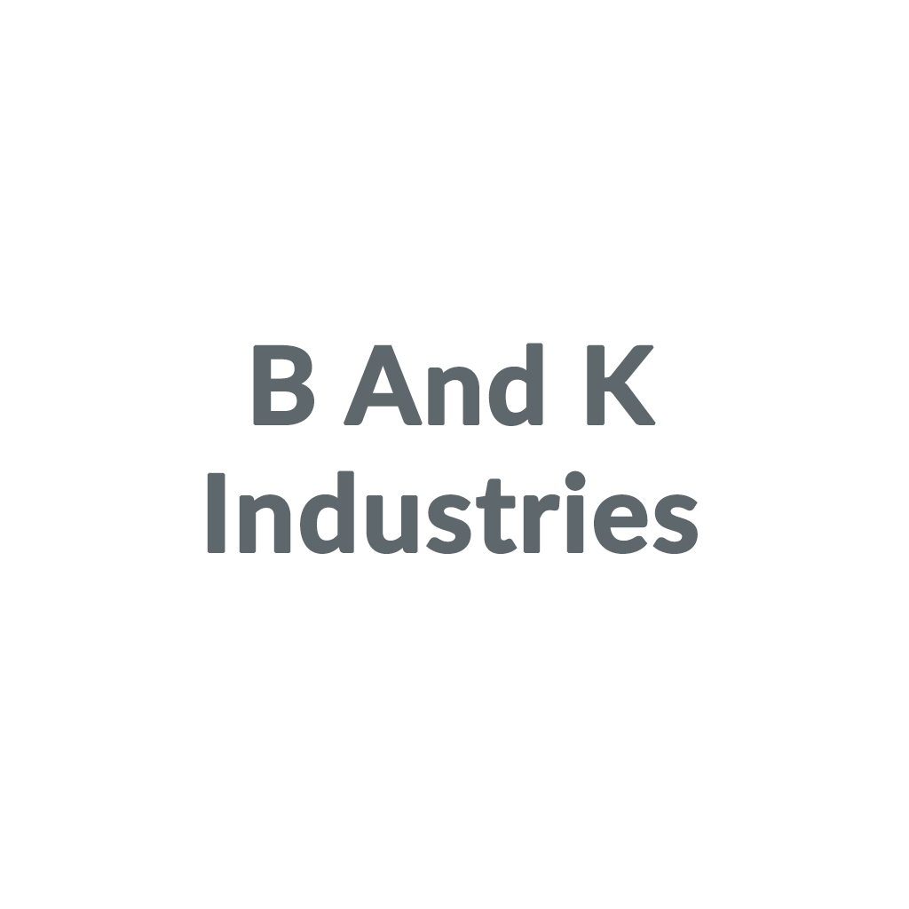 B And K Industries promo codes