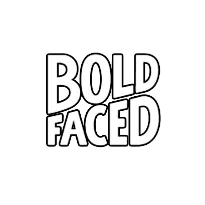 Boldfaced