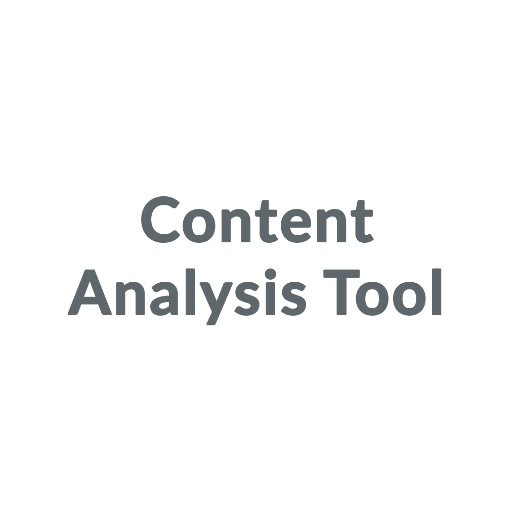 Content Analysis Tool promo codes