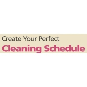 Create Your Perfect Cleaning Schedule promo codes