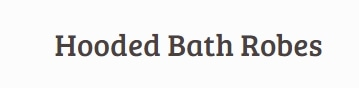 Hooded Bath Robes promo codes