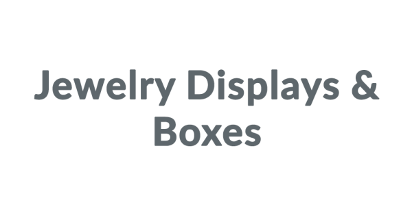 15 Off Jewelry Displays Amp Boxes Coupon Codes 2018 Dealspotr