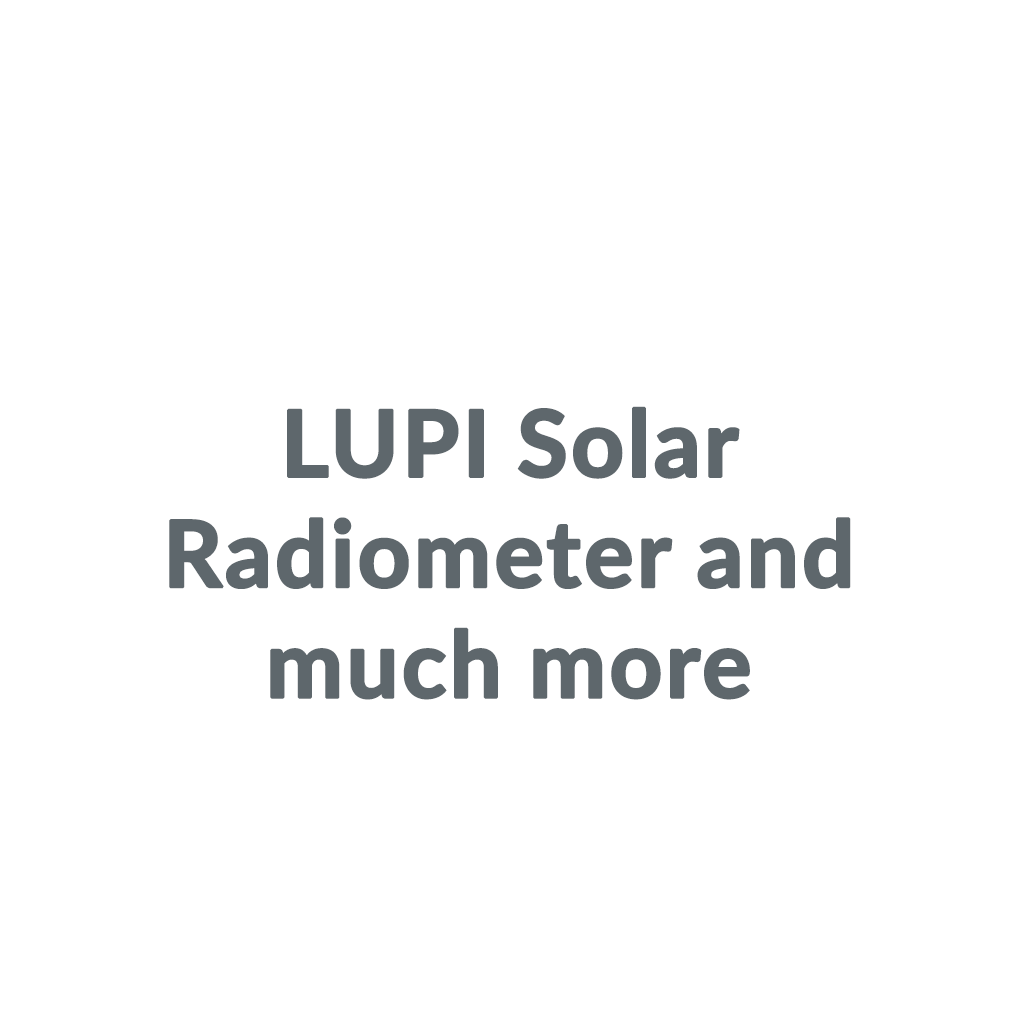 LUPI Solar Radiometer and much more