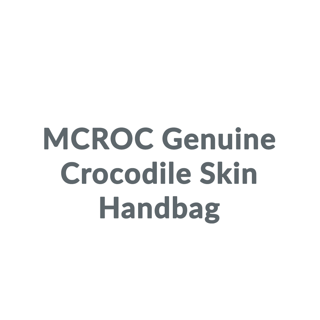 MCROC Genuine Crocodile Skin Handbag promo codes