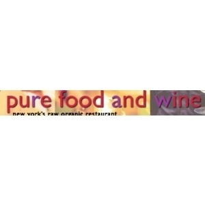 Pure Food & Wine promo codes
