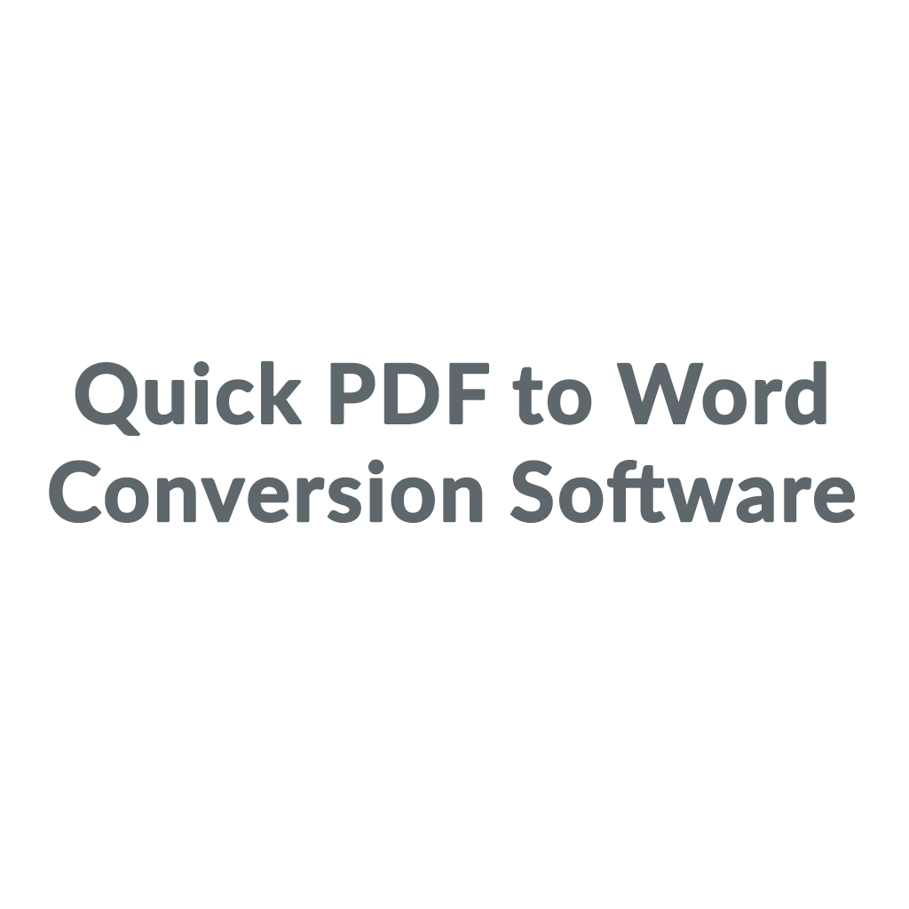 Quick PDF to Word Conversion Software promo codes