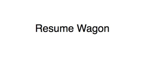 Resume Wagon