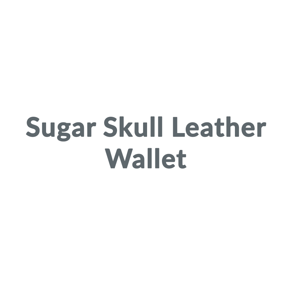 Sugar Skull Leather Wallet