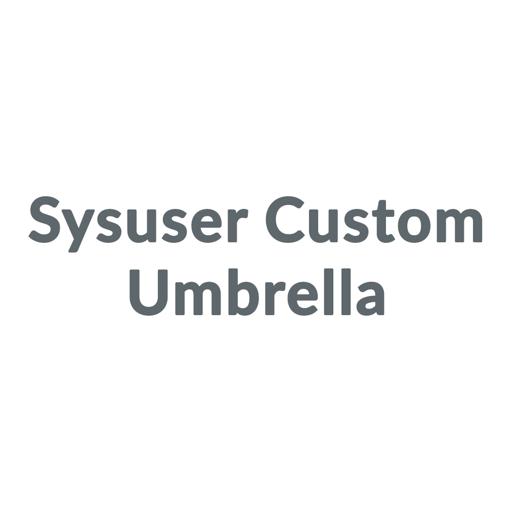 Sysuser Custom Umbrella