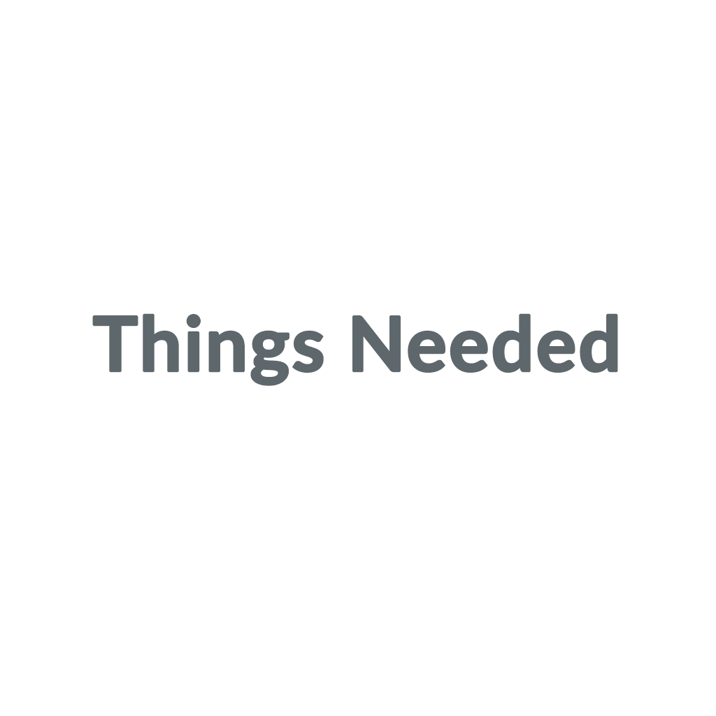 Things Needed promo codes