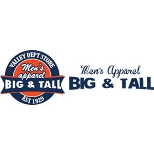 Valley Big and Tall promo codes