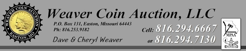 Weaver Coin Auction promo codes