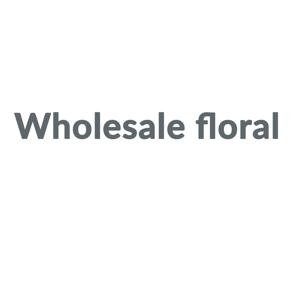 Wholesale floral Coupons