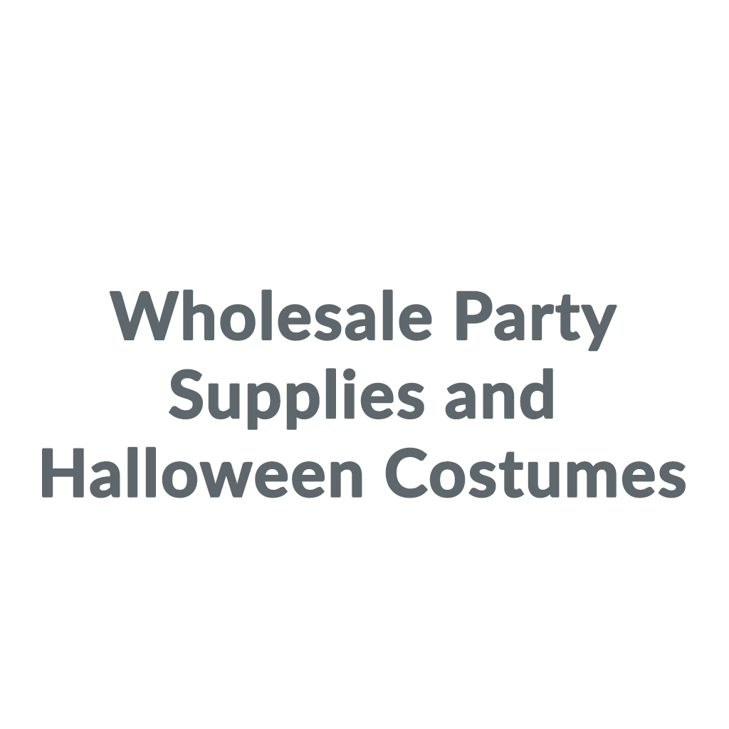 Wholesale Party Supplies and Halloween Costumes