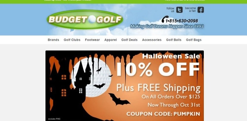 Budget golf discount coupon