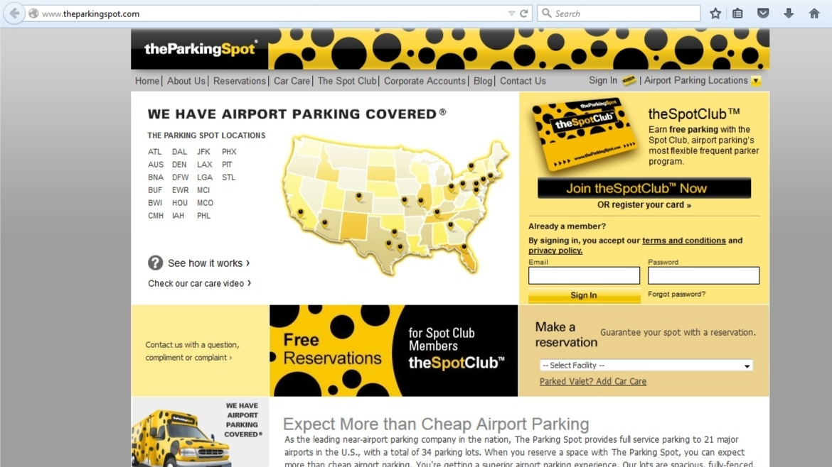 The parking spot discount coupons