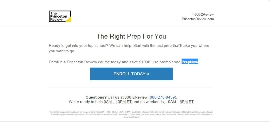 The Princeton Review Coupon Codes. tusagrano.ml Today is the last day to save $ on SAT Ultimate Use promo code. Show Coupon Code. Shared by @ScarsdaleHub. SAVE. WITH COUPON CODE Take $ Off with Code. Save $ on SAT & ACT Ultimate courses. HSE Show Coupon Code. in The Princeton Review coupons.