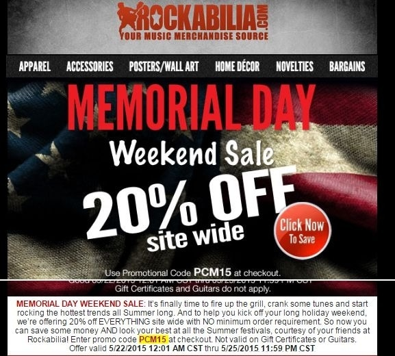 Rockabilia coupon code