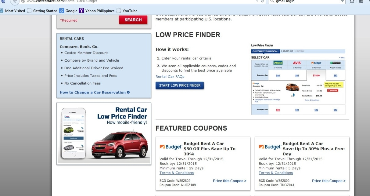 Alamo coupon code costco