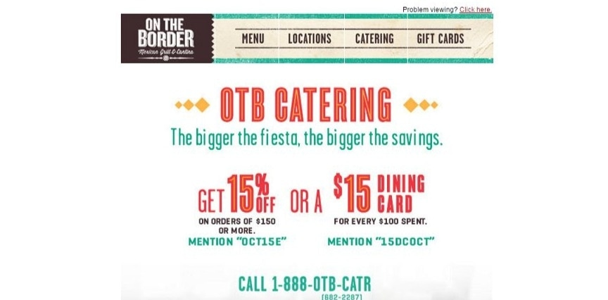 On the border coupon code