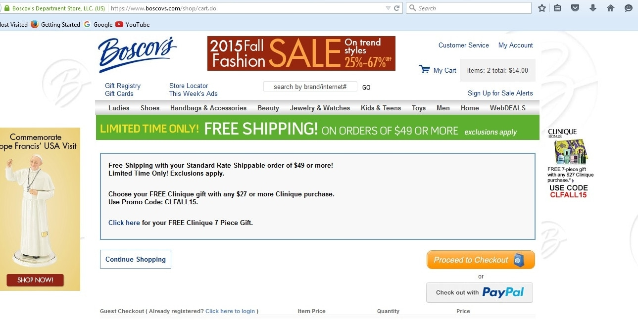 Boscov coupon codes