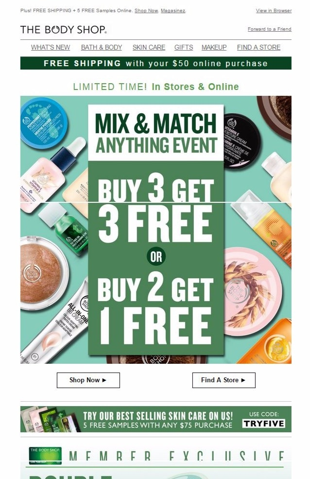 The Body Shop UK Promo Codes December 2018