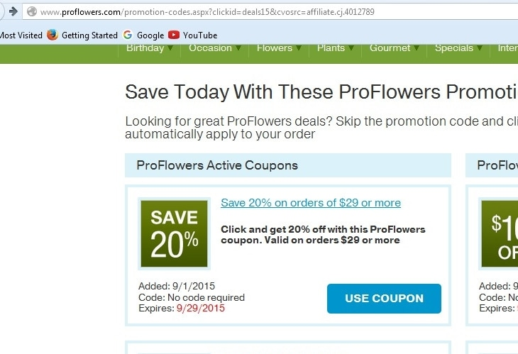 Proflowers coupon code free delivery 2018
