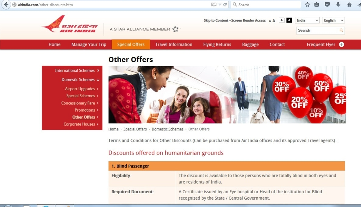 Air india coupons discounts