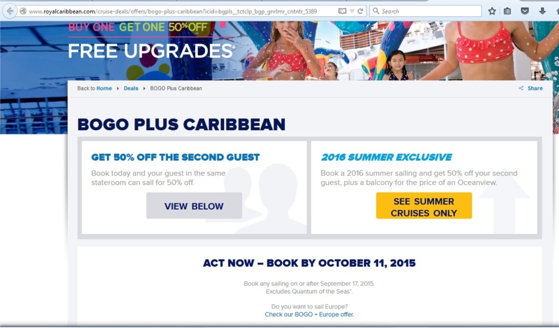 Expired Royal Caribbean Coupons