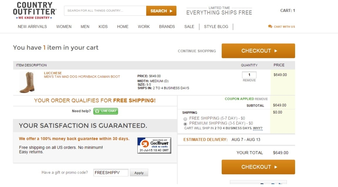 Country outfitter coupon code