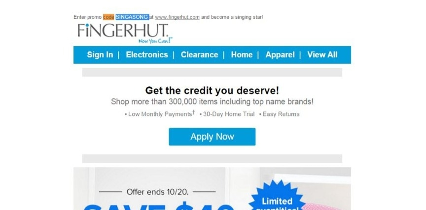 Fingerhut discount coupons