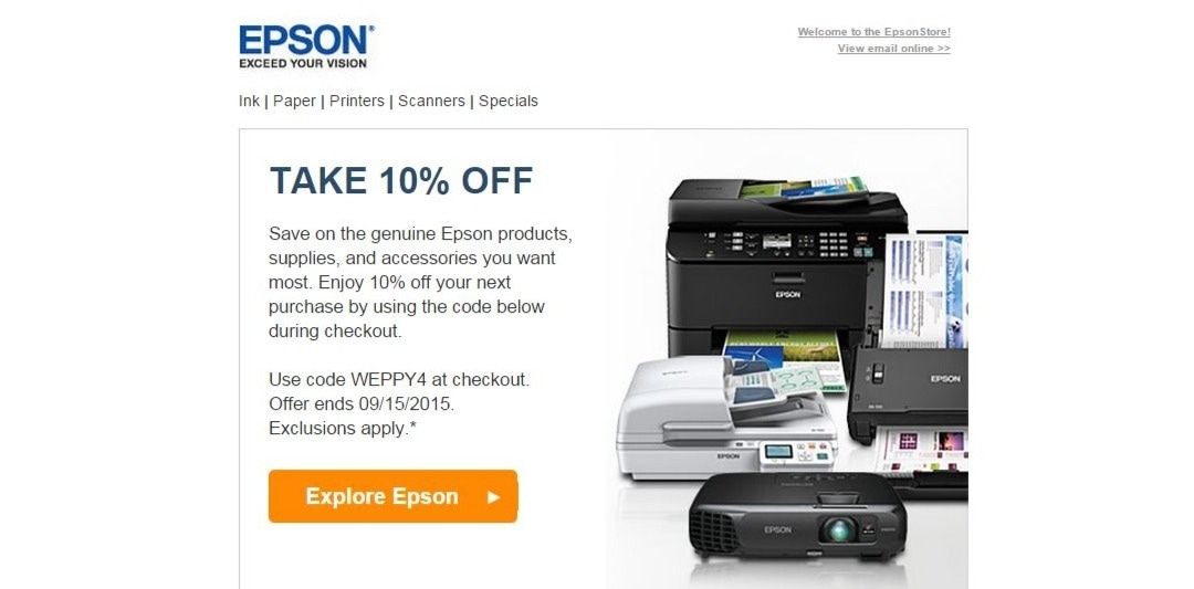 Epson shop discount coupons