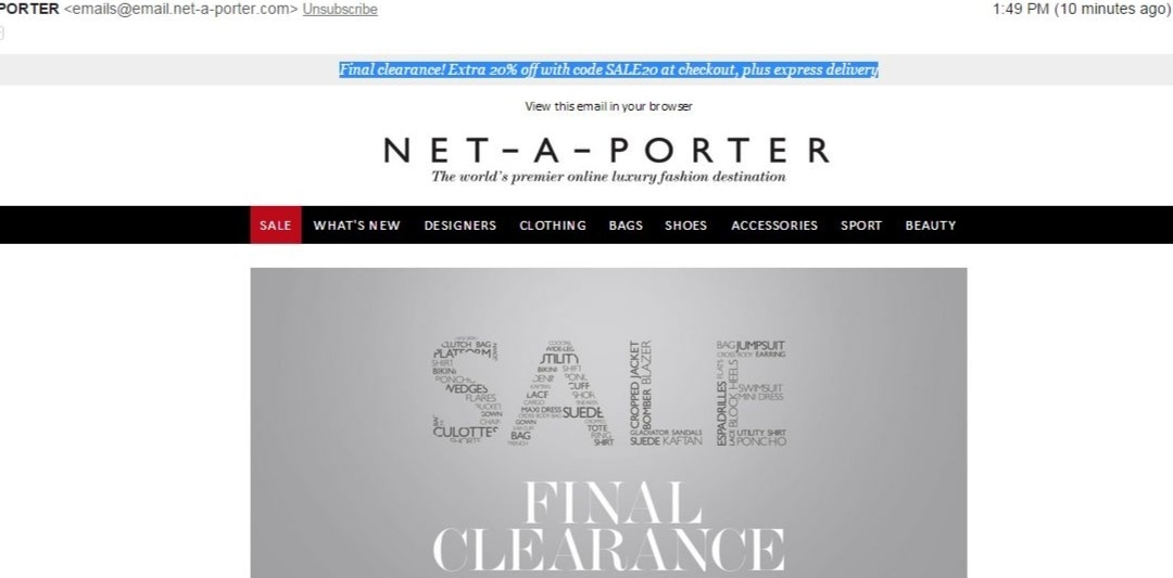 30 net a porter promo code coupons may 2016