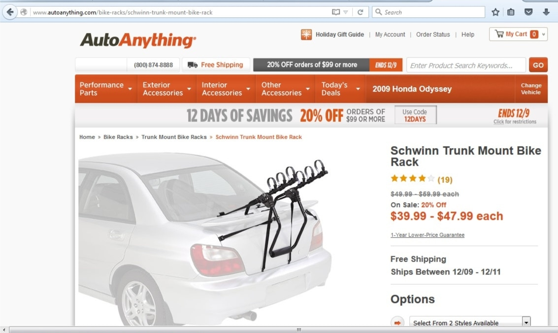 Autoanything coupon 10