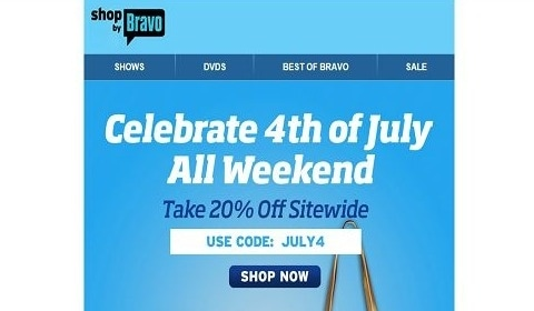 For Shop by Bravo we currently have 6 coupons and 3 deals. Our users can save with our coupons on average about $ Todays best offer is $15 Off a $40 Purchase. If you can't find a coupon or a deal for you product then sign up for alerts and you will get updates on every new coupon added for Shop by Bravo.