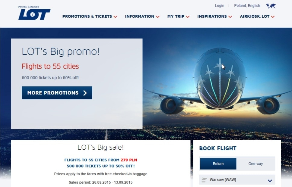 Lot airlines coupons