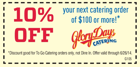 Glory days coupons