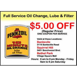 Pennzoil Oil Coupons - allspecialcoupons.com