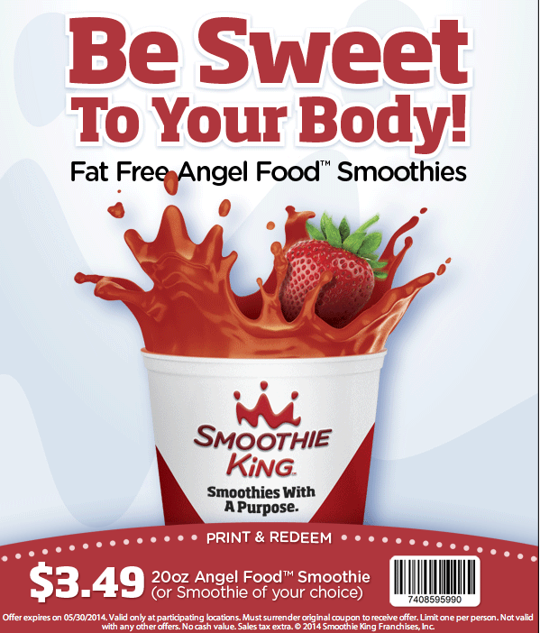 picture relating to Smoothie King Printable Coupon named Smoothie king discounts / The village pub nashville